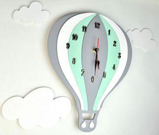 Zegar BALON z chmurkami do pokoju dziecięcego