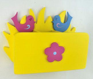Przybornik na biurko kwiatek – ptaszki